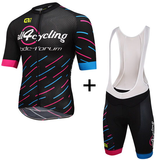 Completo Race Team All4cycling Bdc - Pink Per Uomo